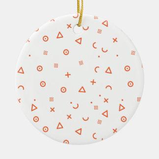 Happy Particles Ceramic Ornament