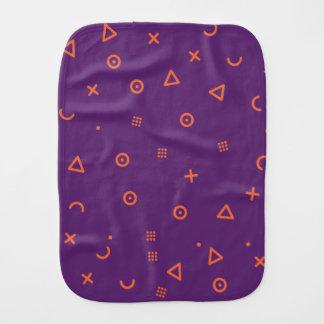 Happy Particles Purple Burp Cloth
