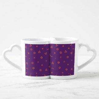 Happy Particles Purple Coffee Mug Set