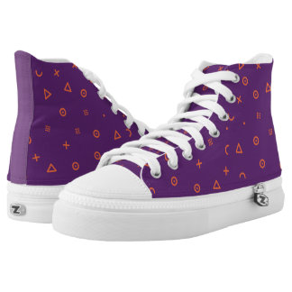 Happy Particles Purple High Tops
