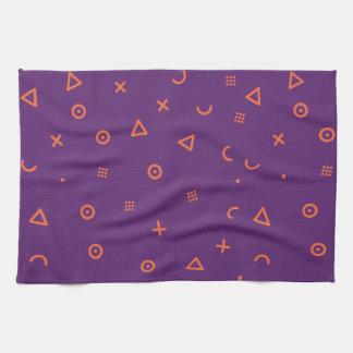 Happy Particles Purple Kitchen Towel