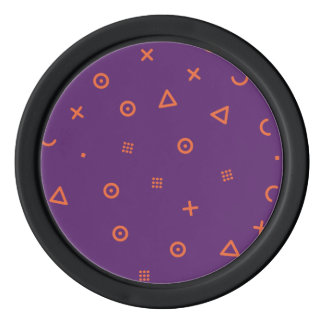 Happy Particles Purple Poker Chips