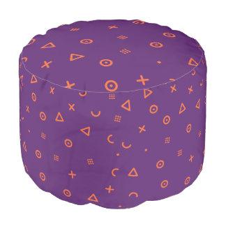 Happy Particles Purple Pouf