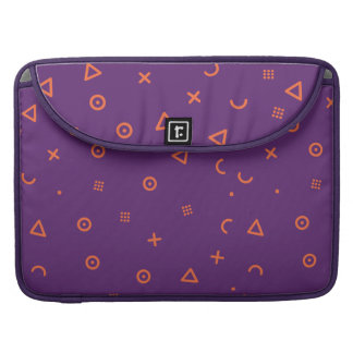Happy Particles Purple Sleeve For MacBook Pro
