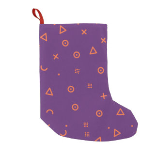 Happy Particles Purple Small Christmas Stocking