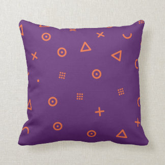 Happy Particles Purple Throw Pillow