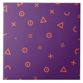Happy Particles Purple Tile