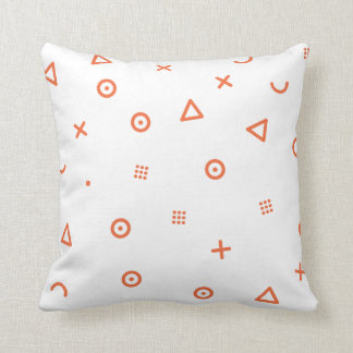 Happy Particles Throw Pillow