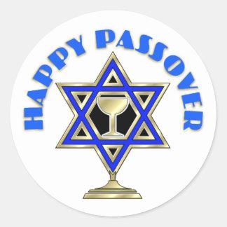 Happy Passover Classic Round Sticker