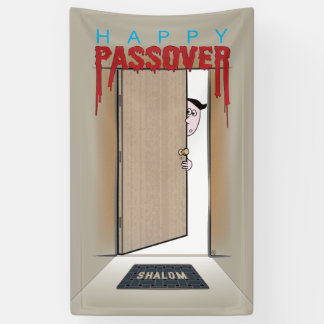 Happy Passover Exodus Cartoon Greeting Banner
