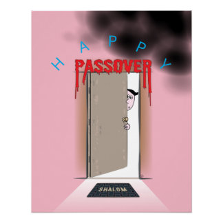 Happy Passover Exodus Cartoon Poster