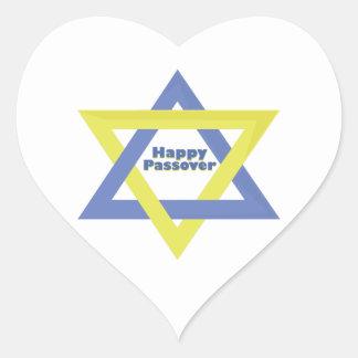 Happy passover heart sticker