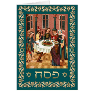 Happy Passover in Hebrew Fine Art Greeting Cards