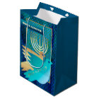 Happy Passover. Menorah and Peace Dove Gift Bags
