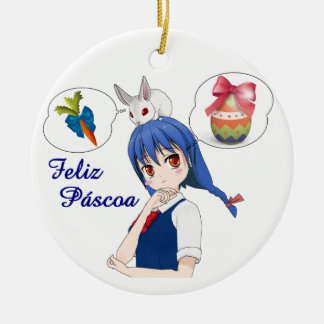 Happy Passover (Personalizável) Ceramic Ornament