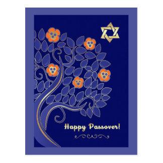 Happy Passover. Spring Flowering Tree Postcards