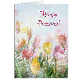 Happy Passover Spring Tulips Card