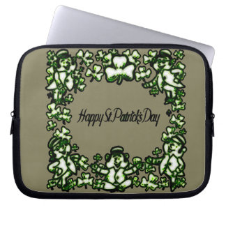 Happy Patrick s Day 2a Laptop Sleeve