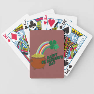 Happy Patrick s Day Bicycle Playing Cards