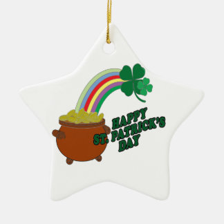 Happy Patrick s Day Ceramic Ornament