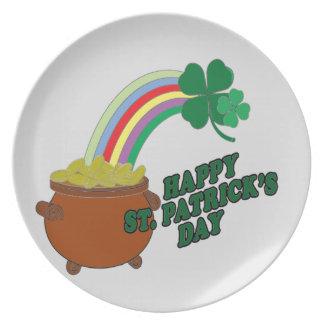 Happy Patrick s Day Dinner Plates