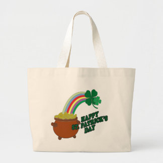 Happy Patrick s Day Large Tote Bag