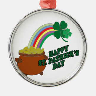 Happy Patrick s Day Metal Ornament