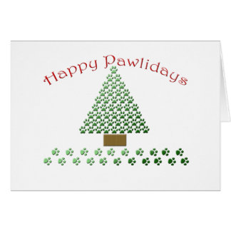 happy pawlidays copy1 greeting card