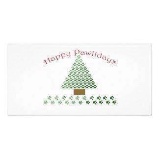happy pawlidays copy1 personalized photo card