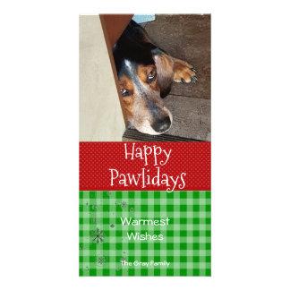 Happy Pawlidays | Pet Christmas Photo Card