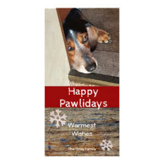 Happy Pawlidays | Pet Photo Christmas Picture Card