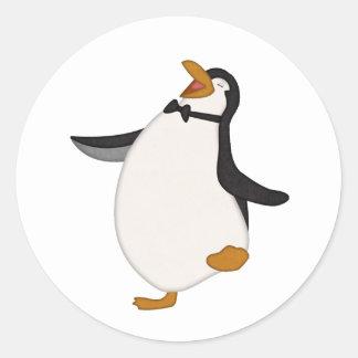 Happy Penguin Classic Round Sticker