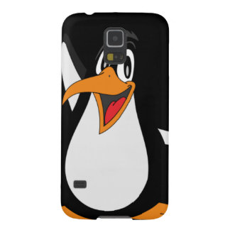 Happy Penguin face Galaxy S5 Covers
