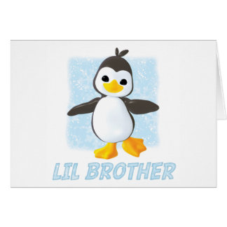 Happy Penguin Little Brother Note Card