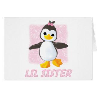Happy Penguin Little Sister Note Card