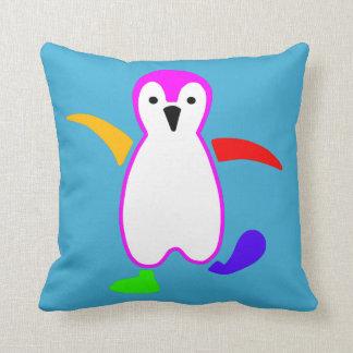 Happy Penguin Throw Pillow