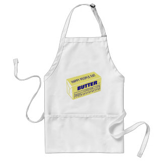 Happy People Eat Butter (Blue) Standard Apron