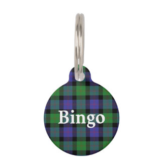 Happy Pet Clan Blair Tartan Plaid Pet ID Tag