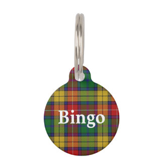 Happy Pet Clan Buchanan Tartan Plaid Pet ID Tag