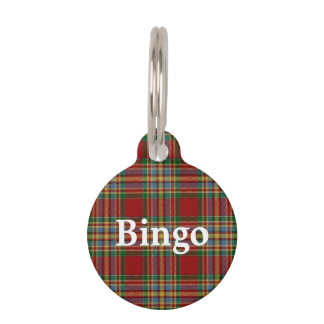 Happy Pet Clan Chattan Tartan Plaid Pet Tag