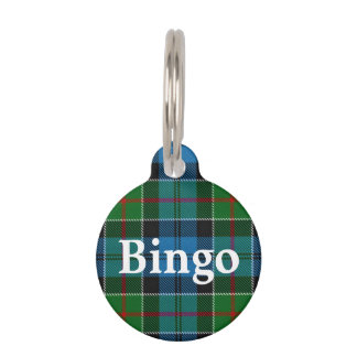 Happy Pet Clan Colquhoun Tartan Plaid Pet Tag