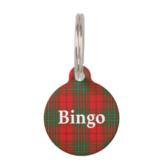 Happy Pet Clan Cumming Tartan Plaid Pet ID Tag