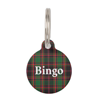 Happy Pet Clan Cumming Tartan Plaid Pet Name Tag