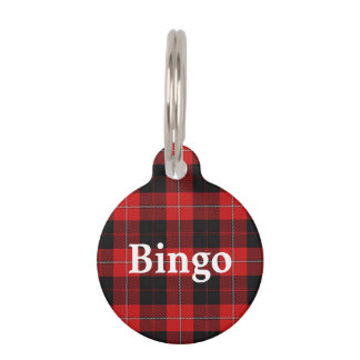 Happy Pet Clan Cunningham Tartan Plaid Pet Name Tag