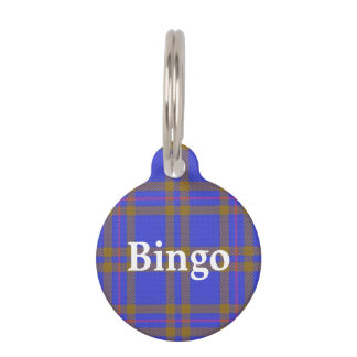 Happy Pet Clan Elliot Elliott Tartan Plaid Pet Tag