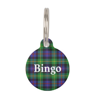 Happy Pet Clan Farquharson Tartan Plaid Pet Tag