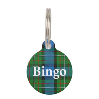 Happy Pet Clan Fergusson Ferguson Tartan Plaid Pet ID Tag