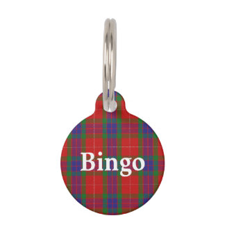 Happy Pet Clan Fraser Tartan Plaid Pet Name Tag