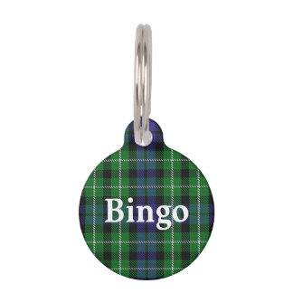 Happy Pet Clan Graham Tartan Plaid Pet ID Tag