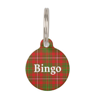 Happy Pet Clan Hay Tartan Plaid Pet Tag